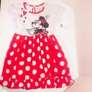 NWT Disney's Minnie Mouse Polka Dot Dress